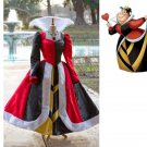 Queen of Hearts Villains Costume Dress Cosplaly Gown
