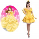 Beauty and the Beast Belle Cosplay Knee-length Costume Dress