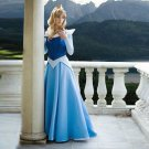 sleeping beauty princess aurora blue cosplay costume dress