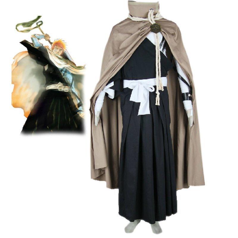 Bleach Ichigo Kurosaki Shih�in Squad Cosplay Costume for men