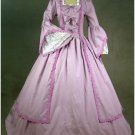 Lavender Trumpet Sleeves Medieval Victorian Civil Adult Party Wedding Dress Custom Made W1129