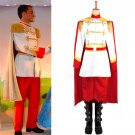 Disney Cinderella Prince Charming Costume Uniform For Adult Men Halloween Costume
