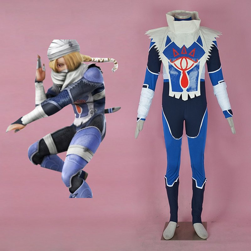 The Legend of Zelda Sheik Cosplay Costume