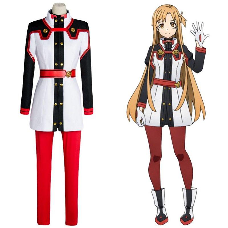 Sword Art Online SAO the Movie Ordinal Scale OS Asuna Yuuki/Yuki Cosplay Costume