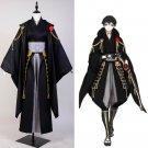 Touken Ranbu Tsurumaru Kuninaga Black Uniform Kimono Halloween Cosplay Costume Halloween Carnival