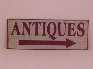 Antiques Metal Advertising Sign