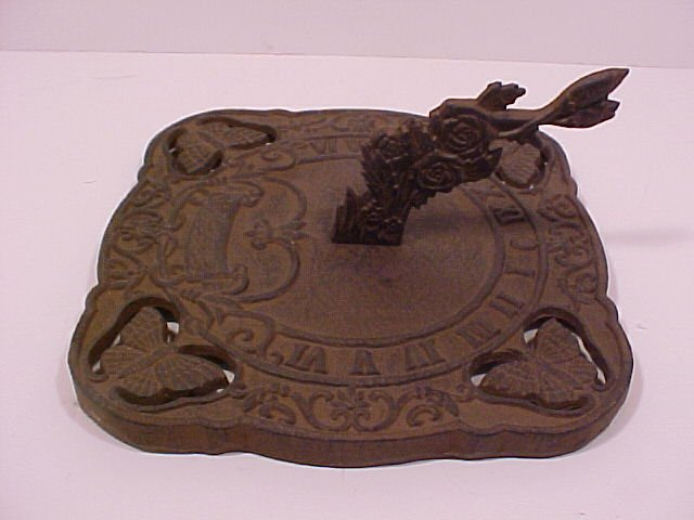 Butterfly Sundial Cast Iron