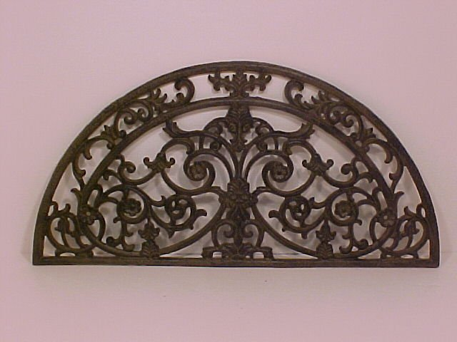 Wall Crescent Cast Iron Beautifully Detailed
