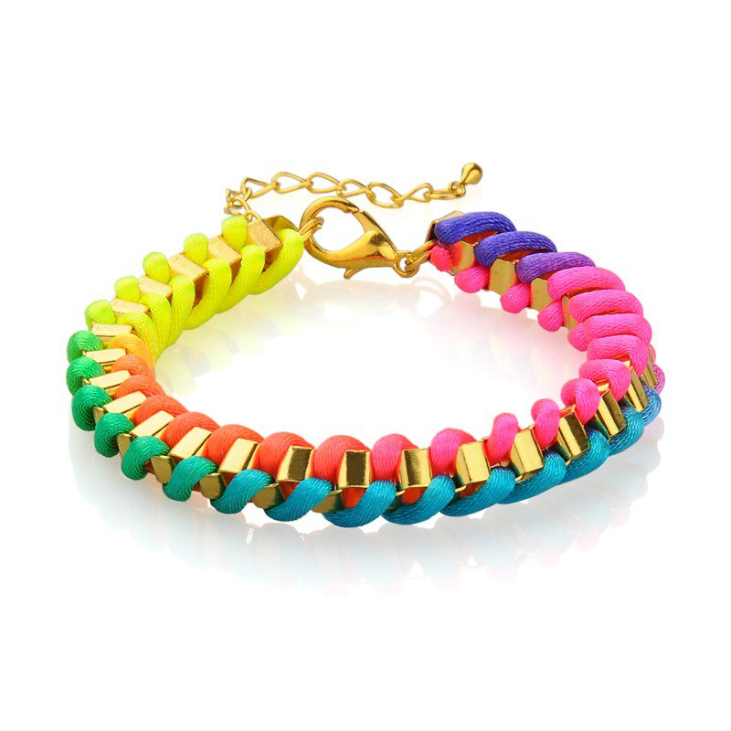 Colorful Box Chain Bracelet