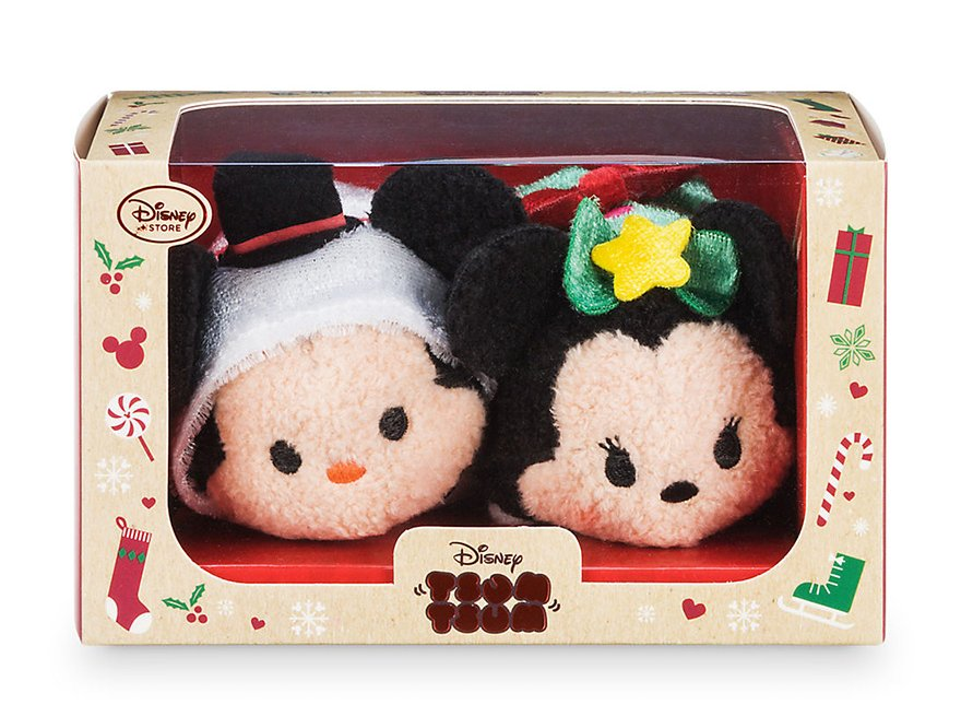 Mickey and Minnie Holiday 2016 Tsum Tsum Set Disney Store