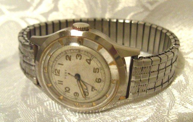 "Pery Watch Company ""Skeleton Back"" Wristwatch Vintage 17 Jewels (ref.#371)"