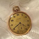 Waltham Pocket Watch Colonial 1420 14s 15j Tip Out Gold Case (ref.#612)