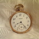 Waltham Pocket Watch1894 Model 12 Size 15 Jewels Grade 220 Gold Filled Case J Boss (ref.#693)
