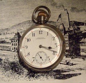 Waltham Traveler  Pocket Watch 1908 Sterling Silver  Case by ALD (Dennison) 16 Size (ref.#698)