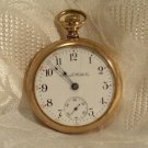Illinois Full Plate 15-Jewel Open Face Pocket Watch 1906 18 Size Gold Filled Case (699)