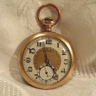 Illinois Autocrat Pocket Watch 1923 12 Size 17 Jewels Fancy Dial Gold Filled Case (ref.#700)