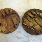 Antique Key wind Key set Pocket Watch Movements 45mm for Parts or Repair (703-1)