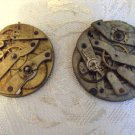 2 Antique Pocket Watch Movement Parts 34.70mm & 36.40mm (ref.#703-3)