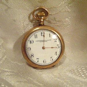 Waltham Private Label Schierwater & LLoyd Liverpool  Pocket Watch 1907 Dennison Case  15j (705)
