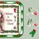 12 x Vintage Santa & Tree Christmas Bunting / Banner Flags ..250gsm Cardstock