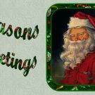12 x Christmas Santa Cupcake Toppers / Gift Tags... Non Edible ..  Cardstock