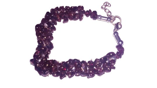 Garnet Bracelet with uncut stone beads