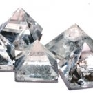 Clear Quartz Pyramid Set of 5 Pyramids - 90% Clean - 22-30 MM each