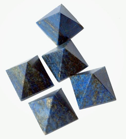 Stock Clearance Sale - Set of 5 Lapis Lazuli Pyramid