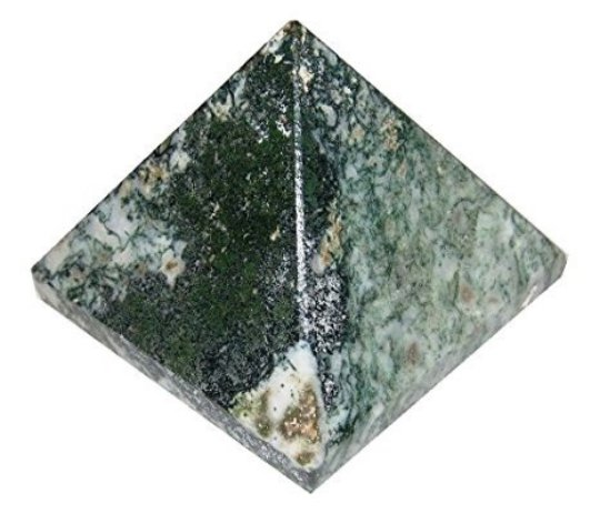 Tree Agate Set of 5 Pyramids - 22-30 MM each