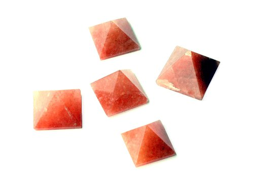 Red Aventurine Pyramids - Set of Five