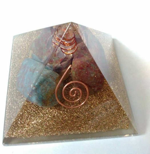 Ruby Tumbled Orgonite With Huge Energy Aura