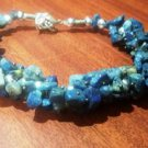 Lapis Lazuli Bracelet - Uncut Stone For healing and balancing throat chakra
