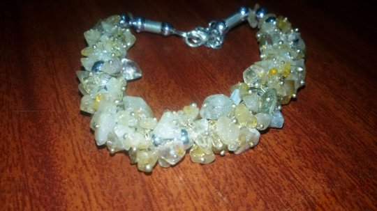 Citrine Uncut Bracelet -  For Wealth and happiness