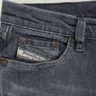 Diesel ZINK Black Gray Women's Classic, Straight Leg, Cotton Blend Jeans 26 x 30