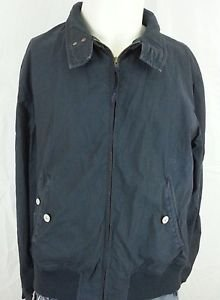 Paul Smith Jeans Black Cotton Zip Up Basic Jacket Coat - L Large