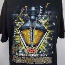 New Orleans Saints Super Bowl XLIV NFL Champions Mardi Gras Black Shirt - XL