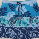 Tommy Bahama Swimsuit Mens Swim Trunks Relax Flowers Hawaiian Blue XXL 2XL