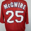 Vintage St. Louis Cardinals #25 MARK McGWIRE Red 1998 Sport Attack MLB Jersey  L