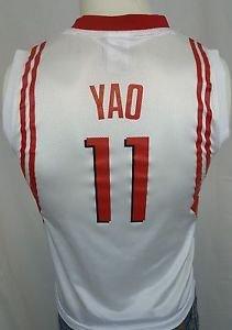 HOUSTON ROCKETS Yao Ming #11 Reebok White NBA Basketball Jersey - Youth  M 10-12