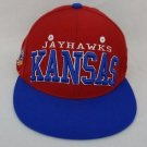 Kansas Jayhawks KU NCAA Authentic Zephyr Cap Flat Brim Snapback Hat - NEW