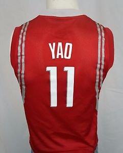 HOUSTON ROCKETS Yao Ming #11 Reebok Red NBA Basketball Jersey - Youth  M 10-12