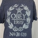 OBEY Propaganda 1989 Number 74 520 Mens Grey Shirt XL