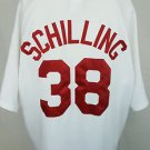 Boston Red Sox Curt Schilling #38 2007 World Series Majestic Sewn MLB Jersey 2XL