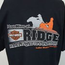 Harley Davidson Motorcycles Life Begins Ridge LAKE WALES FLORIDA Black Shirt XL