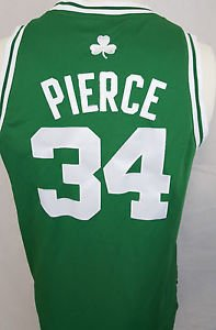 Boston Celtics Paul Pierce #34 NBA Basketball Green Sewn Jersey  - Youth L
