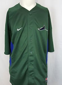 Tampa Bay Devil Rays MLB Green Nike Baseball Sewn Jersey - L Large