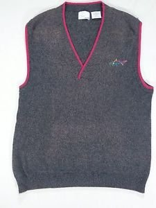 Reebok Greg Norman Golf Sweater Vest  Embroidered Shark Logo - M Medium
