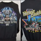 Vintage 90s Harley Davidson Motorcycle North Texas Dallas Sweatshirt Size L
