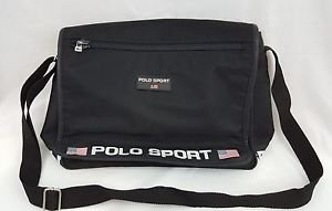 Polo Sport Ralph Lauren Vintage Unisex Black Cross Body Shoulder Messenger Bag