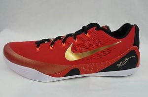 Nike Zoom Kobe IX 9 CH CHINA Pack Red Metallic Gold Black 683251-670 Size 18